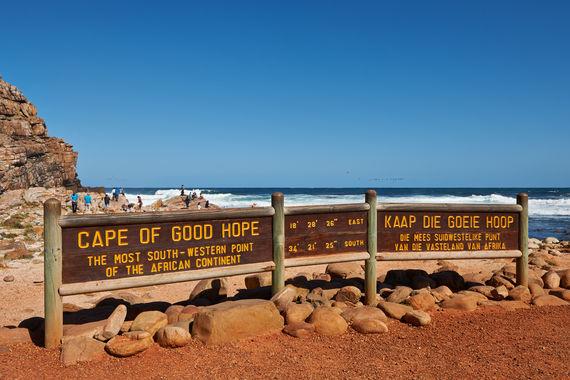 Schild Kap der guten Hoffnung, Kapstadt, Westkap, Suedafrika |sign Cape of Good Hope, Cape Town, Western Cape, South Africa|