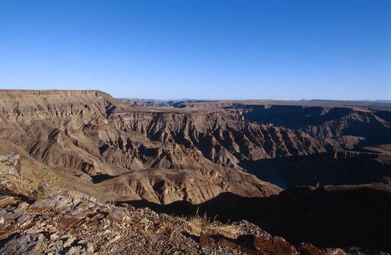 Afrika, Namibia, ehemalige deutsche Kolonie, Blick in den Fish-River-Canyon, nach dem Grand-Canyon der zweitgrv_te Canyon der Welt
